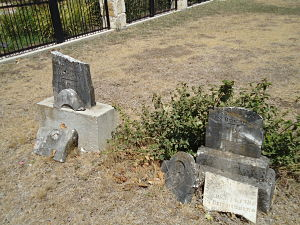 Joseph and Theresia Bergmann's tombstones 2011