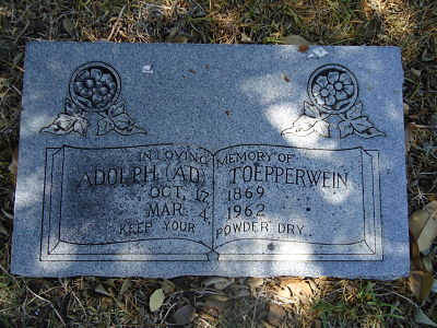 Adolph Toepperwein's Tombstone