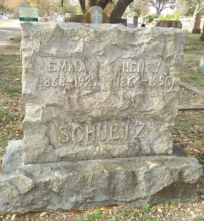 Henry and Emma Bauer Schuetz Tombstone
