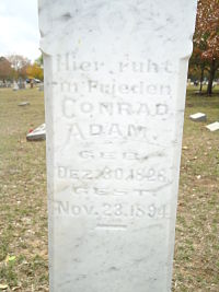 Inscription on Conrad Adam's tombstone_opt