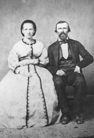 Conrad and Adalbertha Bergmann Adam Wedding