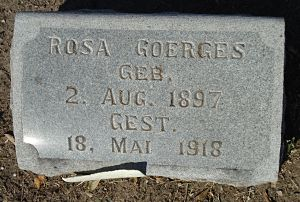 Rosa Goerges, daughter of Alexander and Rosa Bergmann Goerges