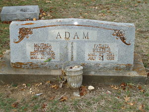 Willie and Lille Adam Tombstone_opt