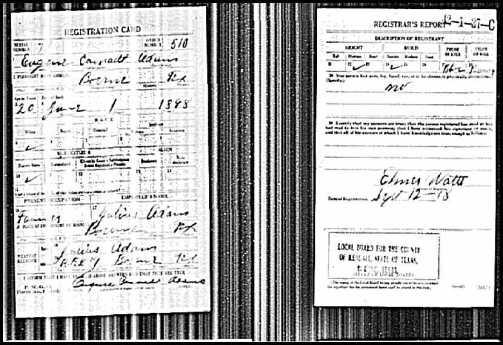 U.S.WorldWarIDraftRegistrationCards1917-1918ForEugeneCarnadtAdam2